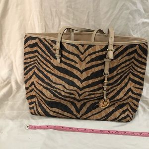 Michael Kors Zebra Striped Tote